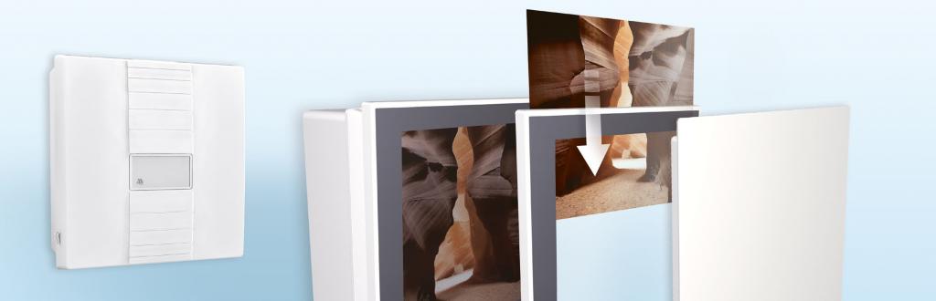 Meltem Designabdeckungen als Bilderrahmen
