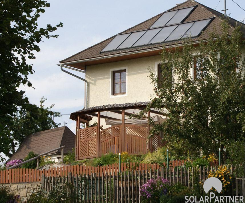 Optimale Nutzung der Dachfläche durch SolarPartner Kollektoren.
