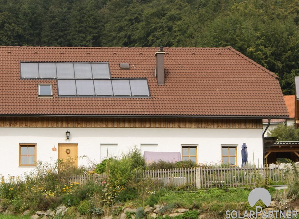 Landwirtschaftlich genutzte Solaranlage.