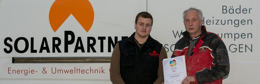 Stefan und Manfred zur Ineo Auszeichung von SolarPartner. Gute Mitarbeiter sind unsere Basis.